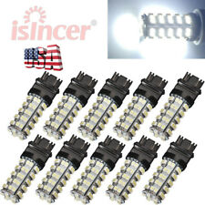 10PCS 6000K 3157 68 SMD LED TAIL/BRAKE/STOP LIGHT BULBS T25 3057 3457 4157 WHITE