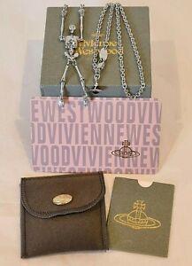 Vivienne Westwood silver tone skeleton Necklace