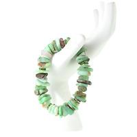 Green Chrysoprase Artisan Nugget Stretch Bracelet Gemstone Healing Crystal