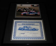 Dale Earnhardt Sr Signed Framed 1985 Fan Club Certificate & Photo Display JSA