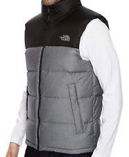 THE NORTH FACE Nuptse Down Mens XL Heather Gray/TNF Black Vest NEW $149
