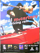 PAUL McCARTNEY Driving Rain 2001 promo POSTER -- 18 inch x 24 inch