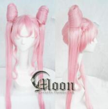 New BLACK LADY Sailor Moon Sailor Chibi moon Small·Lady Pink Cosplay wig