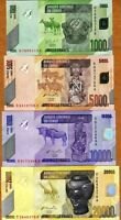 SET Congo D. R. 1000;5000;10000;20000 Francs 2008-2013, P-New