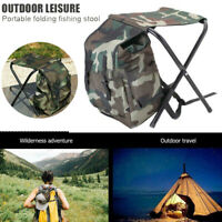 Outdoor Foldable Carry Stool Chair Storage Bag Backpack Hiking Fishing Camping