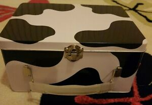 Cow Print Storage Metal Box With clasp