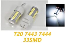 White Front Turn Signal Lights T20 7443 7444 33 SMD LED Bulb A1 For Toyota LAX
