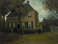 Vincent van Gogh Vicarage At Nuenen Wall Art Print on Canvas Repro Small 8x10