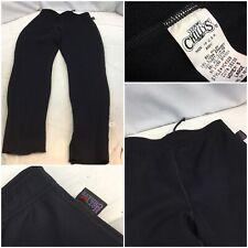 Hot Chillys Thermal Stretch Pants L Women Black Nylon Lycra Mint YGI D9-628