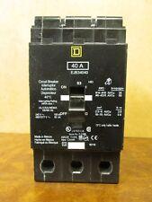 Square D 40 amp 3 pole circuit breaker Catalog # Ejb34040 *New In Box*