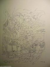"""Marco zanuso -drucken litho auf papier spezial zeichnung für """"innenraum"""" 1999"""