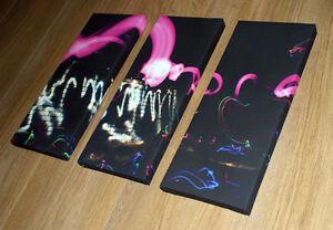 Light Graffiti  - 3 x Ltd Edition Original Canvas Print. Kidrobot, futura, Urban