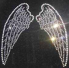 ANGEL WING A iron-on bling fairy transfer applique rhinestone crystal diy CRAFT