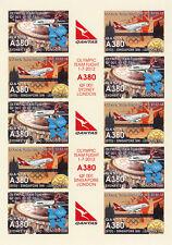 "VIGNETTES AERIENNES ND ""Airbus A380 Qantas - Vol Olympique Sydney-Londres"" 2012"