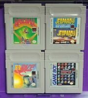4 Games Nintendo Game Boy Color Baseball NFL Football F1 Racing Race Jeopardy!