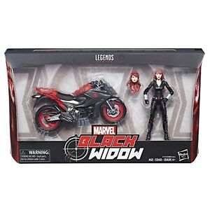 Marvel Legends ~ BLACK WIDOW w/MOTORCYCLE ACTION FIGURE BOXED SET ~ IN STOCK