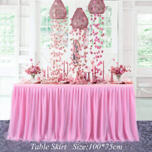 Tulle Table Skirt Tableware Table Cloth Cover Home Wedding Birthday Party DecorY