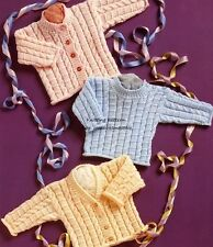 (636) DK Knitting Pattern for Baby Boys Girls Cable Cardigans & Sweater, 12-22''
