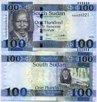 SOUTH SUDAN 100 POUNDS 2019 P 15 UNC