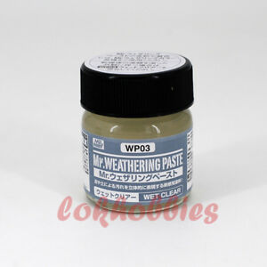 MR Hobby Color Gunze GSI Creos MR Weathering Paste Mud Wet Clear WP03 40ml