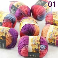 Sale 8 Balls x50gNew Knitting Yarn Chunky Colorful Hand Wool Wrap Scarves 01