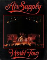 AIR SUPPLY 1982 NOW AND FOREVER TOUR CONCERT PROGRAM BOOK BOOKLET / VG 2 NMT
