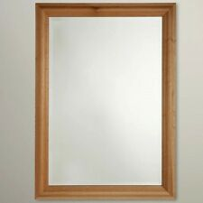 Classic Oak Mirror 88x63cm Home Decor Rectangular
