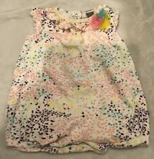 Petit Lem Baby Girl Romper Outfit Size 9 Months In Euc (Bin Ad)