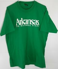 Vtg Arkansas The Natural State Embossed Single Stitch Usa Made T Shirt Sz Xl