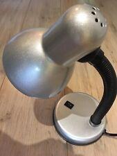 Lloytron Flexi Neck Desk Lamp Reading Light - Silver