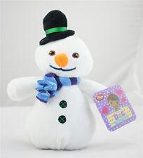"""Disney Junior Jr Doc McStuffins 8"""" CHILLY Beanbag Plush McStuffin Snowman xmas"""