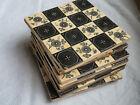 Lot of 9 Antique Victorian Aesthetic Tile T A Simpson Hanley  Cream   Black