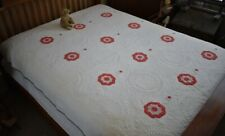 Antique Hand Stitched 19th c Stuffed Work Quilt 14 SPI