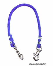 "Royal Blue Braided Rope Horse Trailer Tie 32"" New Horse Tack Equine"