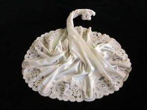 Vintage Waist Slip M Vanity Fair Silky Antron III Nylon Ivory/Beige Half Slip