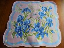 Vintage Nwt Iris & Butterfly Hanky Handkerchief Hankie