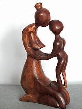 mutter mit kind,holz,19x10cm,holzfigur,wood,deko,mutter,kind,familie,liebe,