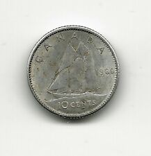 World Coins - Canada 10 Cents 1966 Silver Coin KM# 61