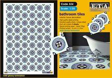 Bathroom Tiles- 1/35 scale - 3 sheets