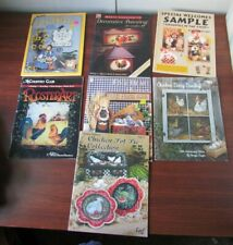 Lot Of 7 Tole Painting Folk Art Pattern Books With Chickens And Roosters #Tt