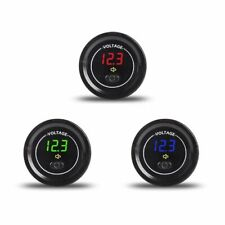 New Waterproof Motorcycle Boat Car LED Display Voltage Meter with ON OFF Switch