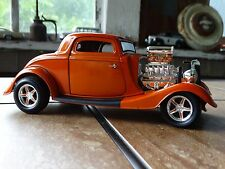 ERTL 1934 Ford Street Rod 3-Window Coupe 1:18 Scale Diecast American Muscle Car