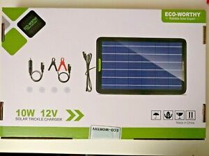 Solar Panel 12 Volt Trickle Battery Charger for Car Van Caravan Boat