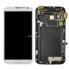 Affichage LCD Ecran tactile+frame pour Samsung Galaxy Note 2 N7100 blanc+cover
