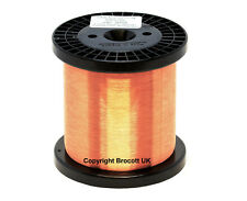 0.10mm ENAMELLED COPPER WIRE, 38AWG MAGNET WIRE, COIL WINDING WIRE - 1KG SPOOL