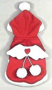 (Small-Med Breed) CHRISTMAS ANGEL WING PET FLEECE COAT