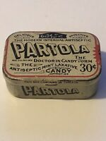 Vintage Antiseptic Partola 1919 Jersey City Tin