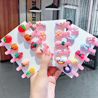 10pcs/set Cute Children Bow Hairpin Fruit Candy Color Hair Clips Girls Headwear