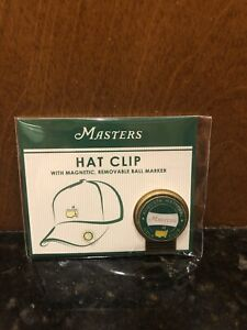 Masters Hat Clip With Golf Ball Marker From Augusta National Tiger Woods