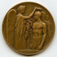 France Summer Olympics Games Paris 1924 Bronze Participation Medal by Benard